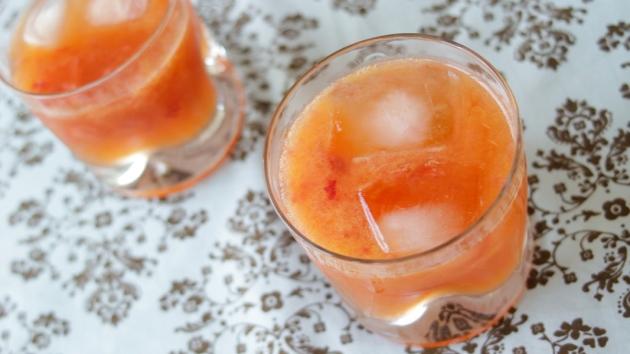 Drink de Morango com Tangerina