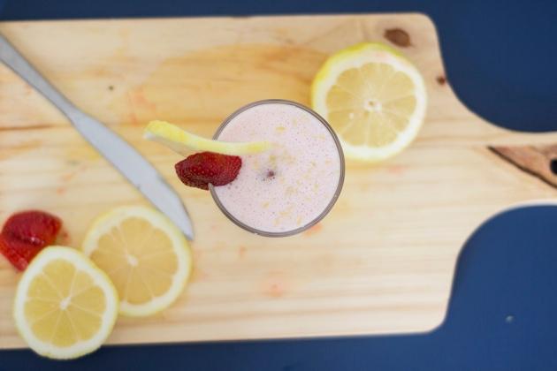 Receita de Smoothie de Morango e Limão Siciliano