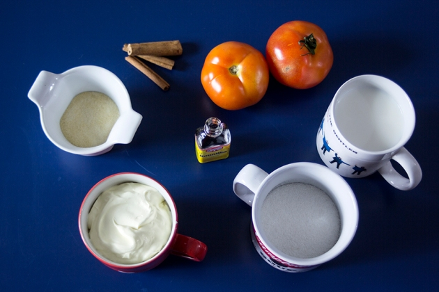 Receita Panna Cotta com Geleia de Tomate