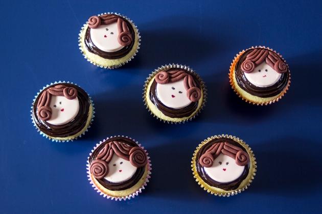 Cupcake Princesa Leia (Star Wars)