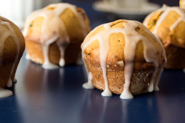 Muffin Natalino (Laranja, nozes e frutas cristalizadas)