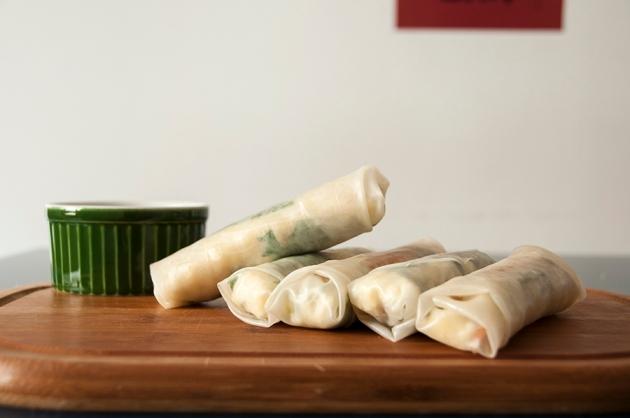 Rolinho Vietnamita (de Legumes e Couscous Marroquino)
